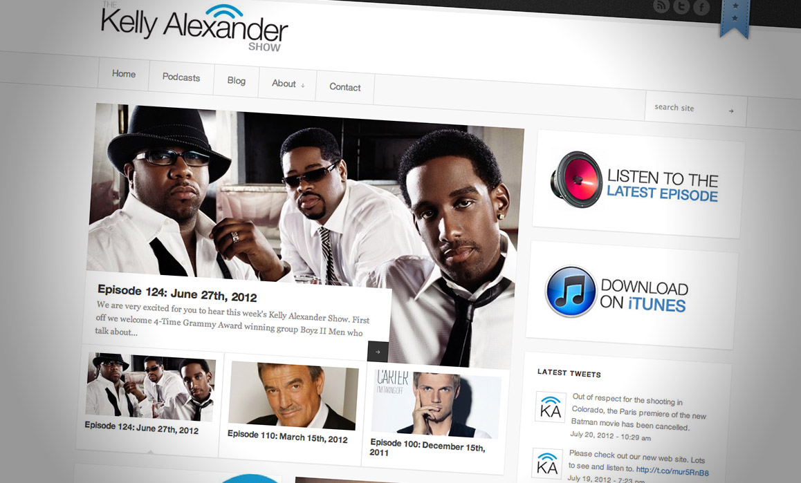 Kelly Alexander Show's New Web Site!